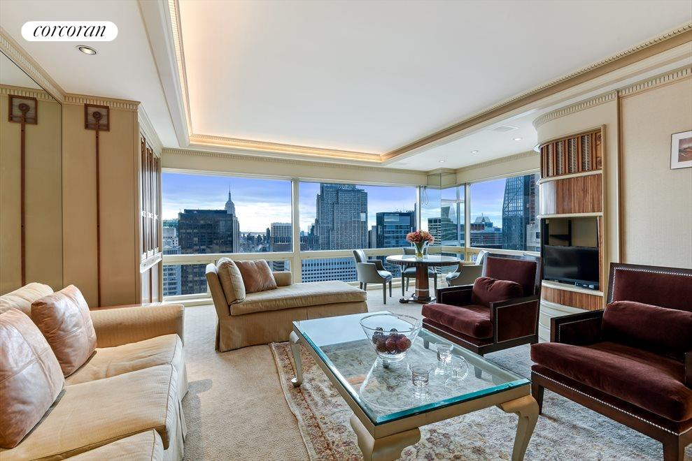 Spacious Living/Dining Room with Views!