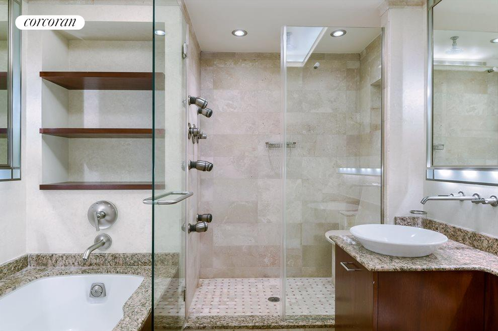 Renovated Bathroom with Tub and Shower