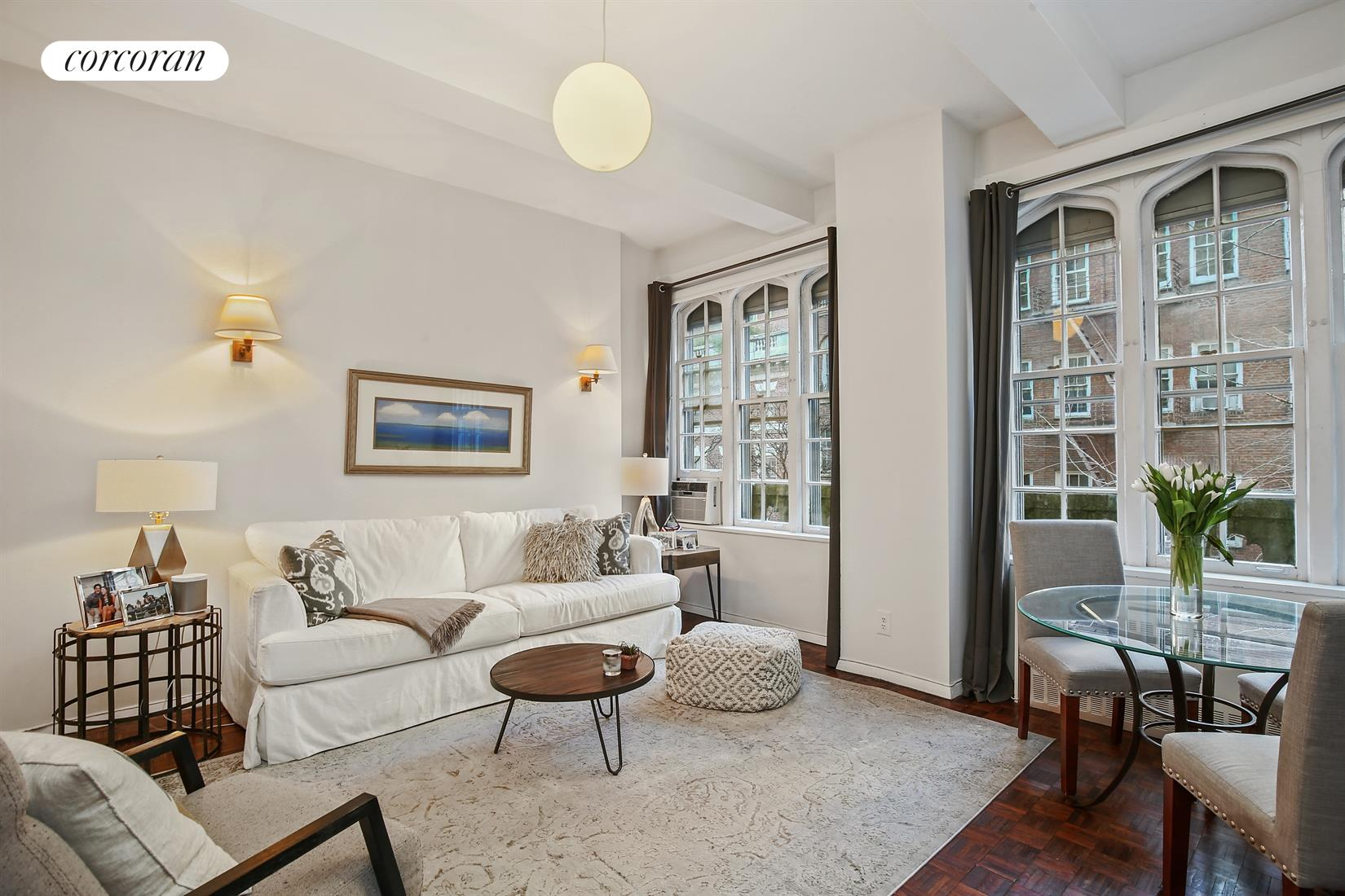 52 East 78th Street, 4A, Living Room/Dining Area facing North