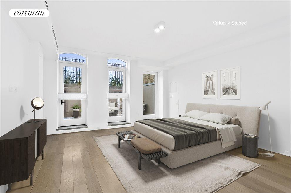 Huge bedroom suite with access to yard
