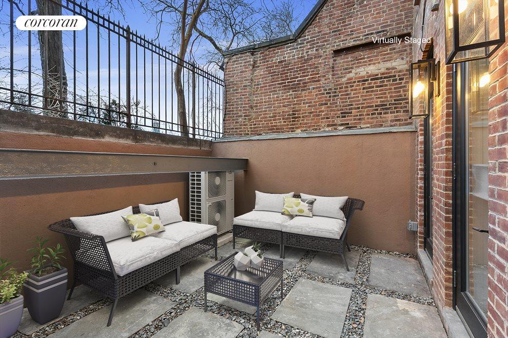 Private backyard, great for entertaining