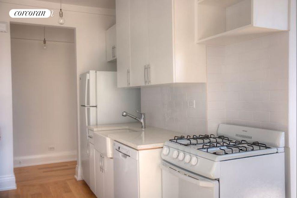 Kitchen features brand new appliances