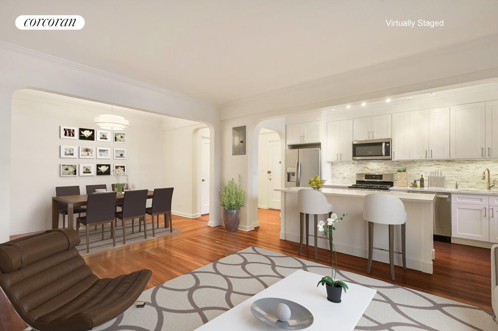 Kitchen / Dining Foyer Virtually Staged Option 1