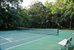 40 on the Bluff, One of three residents-only tennis courts