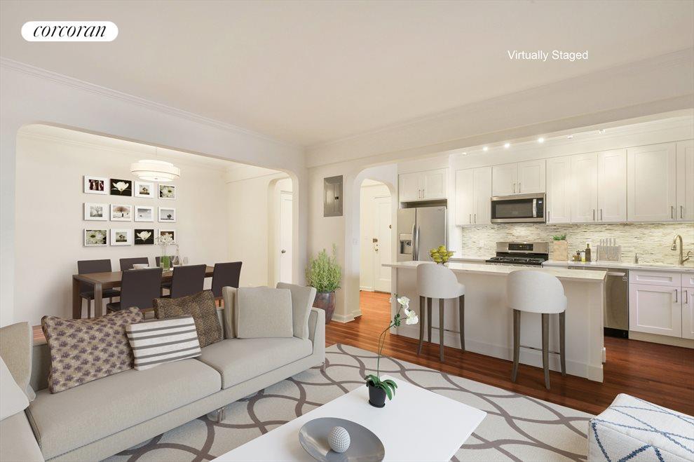 Kitchen / Dining Foyer Virtually Staged Option 2