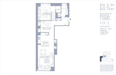 New York City Real Estate | View 389 East 89th Street, #5A | Floorplan