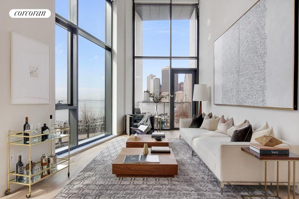 Double Height Ceilinged Living Room