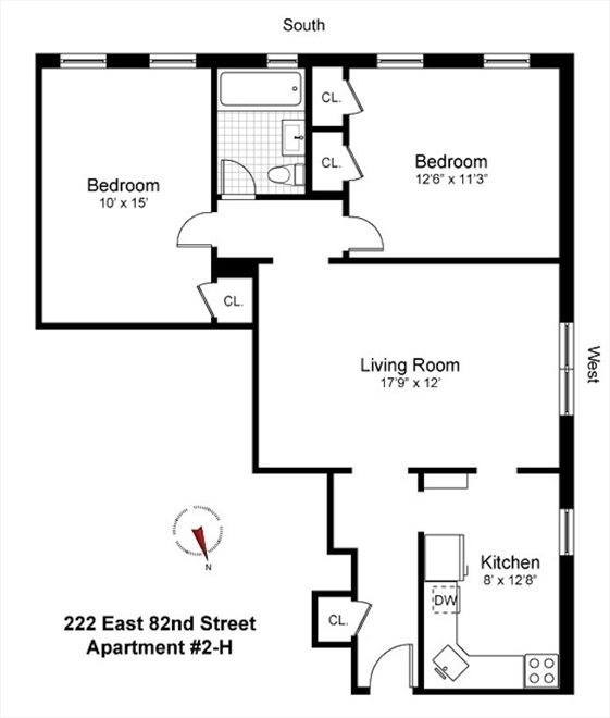 New York City Real Estate | View 222 East 82nd Street #5H | Floorplan