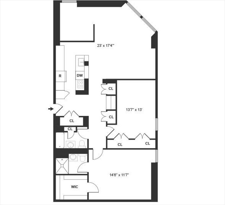 New York City Real Estate | View 1619 Third Avenue #13F | Floorplan