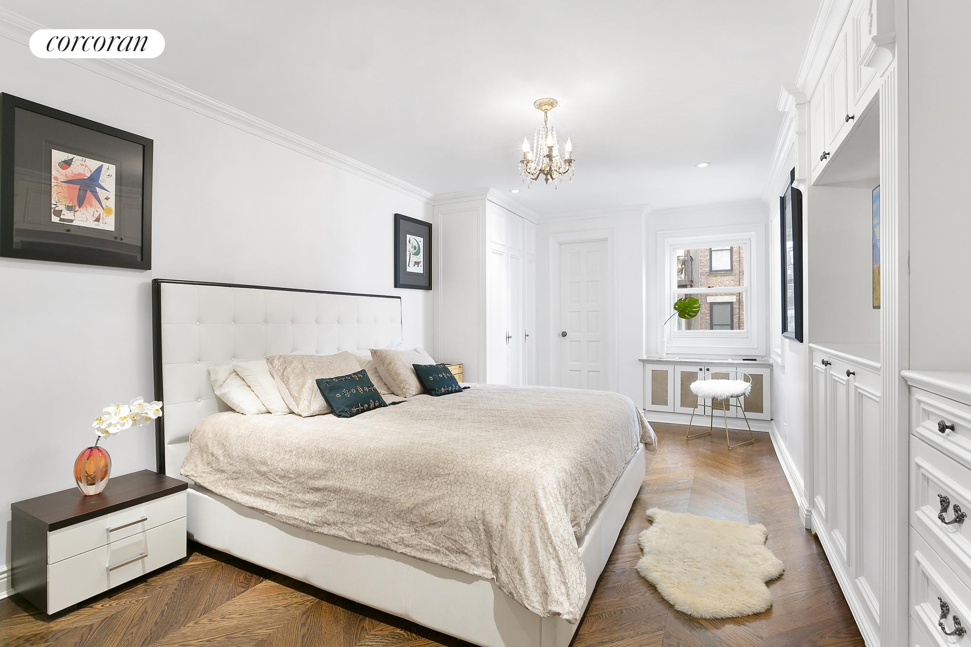 30 West 86th Street, 3A, Wood Burning Fireplace, with Two Large Windows