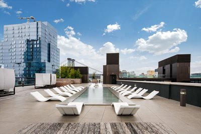 New York City Real Estate | View 429 Kent Avenue, #PH3 | Rooftop Reflection Pool