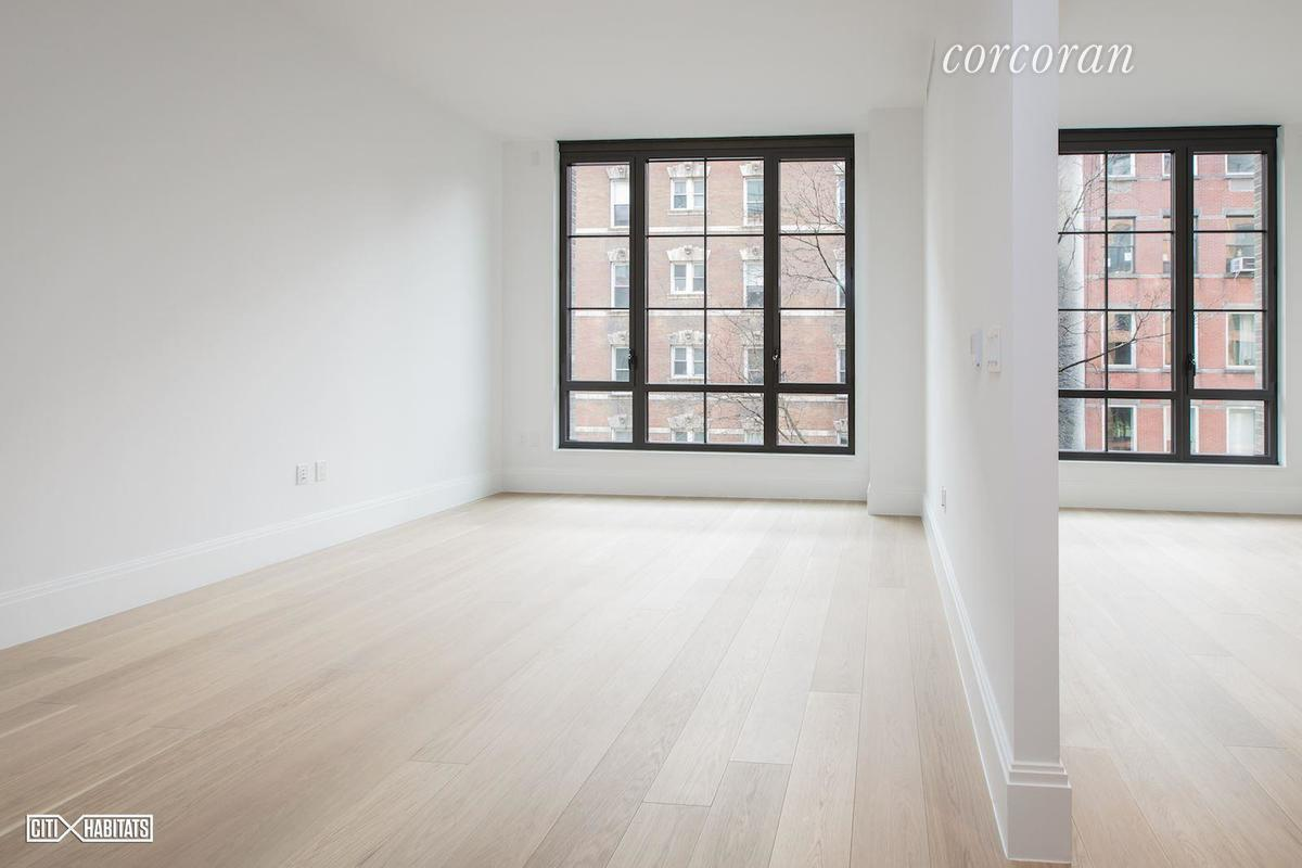 "Beautiful Sunny 1BR with Southern Exposure, 10'7"" High Ceiling combined with Floor to Ceiling windows brings in tons of light and lovely East Village street view. Designed by famous designer Paris Forino, this luxury apt comes with Top of the Line Appliance including a Wine cooler, beautiful Hardwood floor and used a lot of marble with great design and details, also has a very practical layout. Steiner is the newest building in East Village which comes with over 16,000 SF of Amazing amenities which includes 24 hr Concierge, Library, Gym, 50 ft Pool overlooking the Courtyard, Sauna and Steam room, Playroom, Courtyard next to the pool and Rooftop Garden with BBQ Grill. Convenient location with easy access to transportation, supermarket and restaurants  in the neighborhood. This is a great opportunity to own your new home in this amazing building.Please note that photos were taken before tenant moved in, currently has tenant in place so need advanced notice."