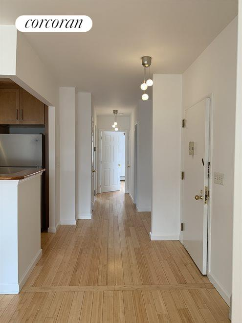 Hallway to bedrooms with Modern Lights