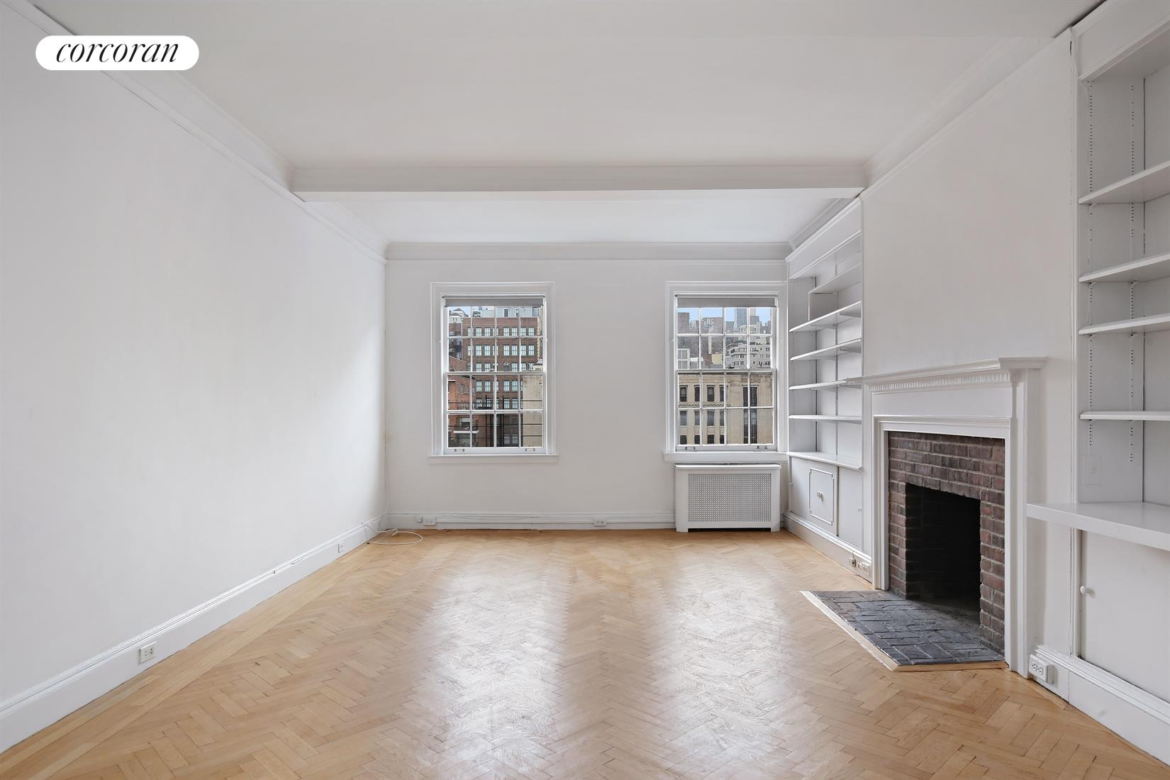 40 Fifth Avenue, 10D, Living Room Virtually Staged