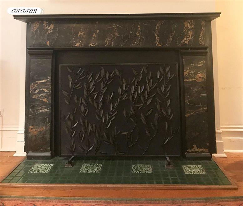 Original marble fireplace