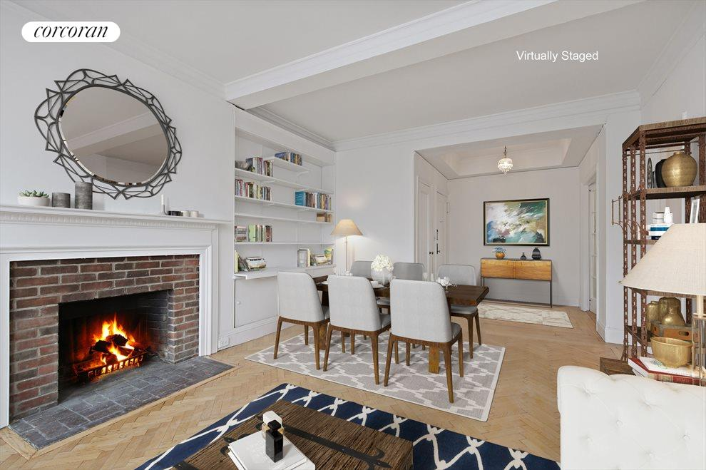 Living Room & Foyer Virtually Staged