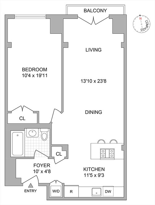 New York City Real Estate | View 2nd Street #8F | Floorplan