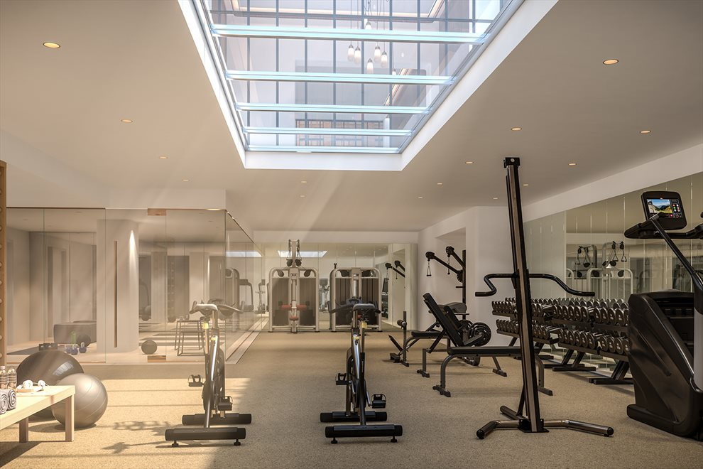 Greenwich West  | 110 CHARLTON ST | Gym with Men and Women's Shower and Steam Rooms