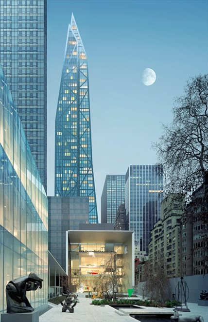 53 West 53 | 53 West 53rd Street | View from MoMA Sculpture Garden