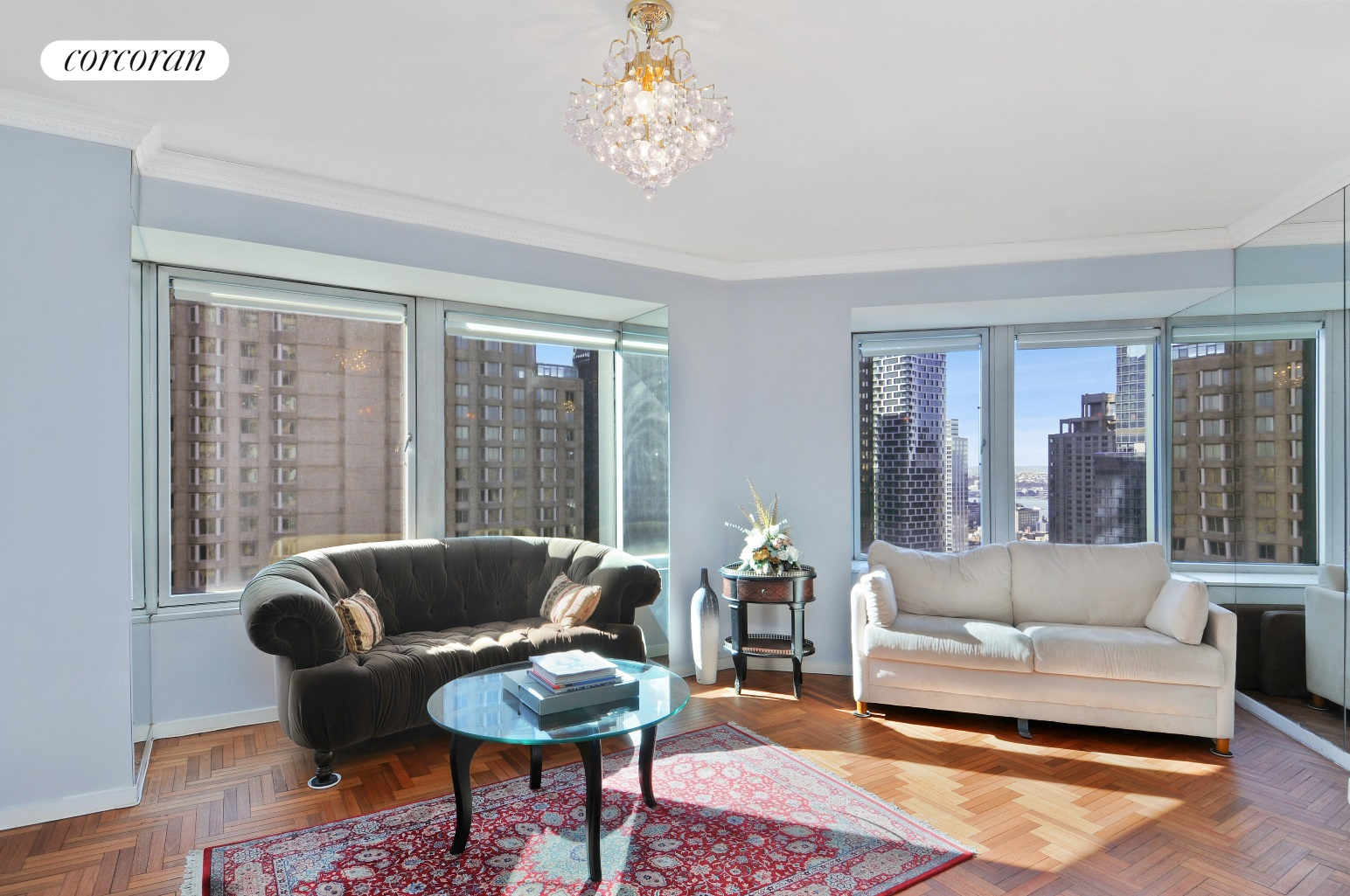 No broker fee.   Newly renovated and fully furnished spacious one bedroom and one and half bathroom in luxury condominium Cityspire, which is located  in the Central of Manhattan,  south from the Central Park, a  block to Fifth Avenue.   The apartment has hard wood floors, marble bathroom, powder room, crown moldings, fire place, granite counter-top and stainless appliances. It has open city and river views, tastefully furnished with two plasma TV, generous closet space, and is in excellent condition. The gym, swimming pool, sauna and steam rooms, and party lounge make your city life more comfortable and enjoyable. Corporations, diplomats and pied--terre  are welcome.  Close to  all  public transportation, fine dinning and shopping.   Sorry no pets. Can be rented furnished or unfurnished at the same price.