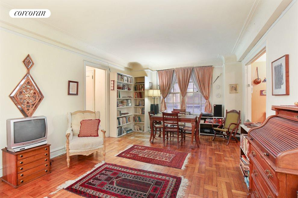 New York City Real Estate | View 285 Riverside Drive, #3E | Living / Dining Room
