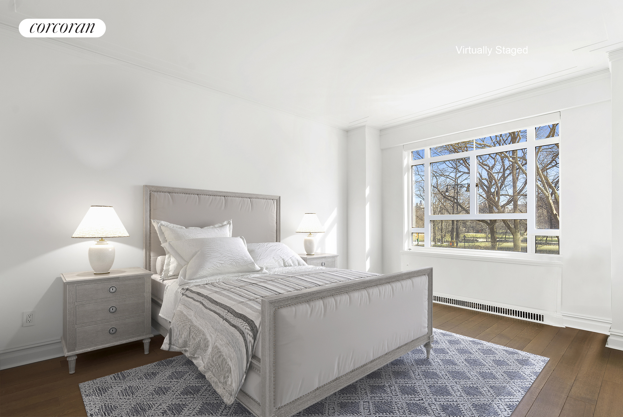 25 Central Park West, 2P, Living Room with Central Park Views