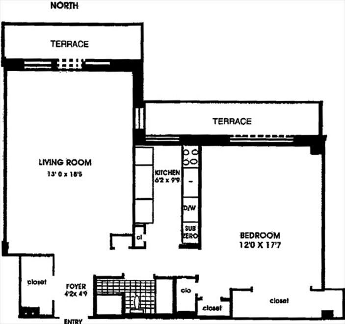 New York City Real Estate | View Tudor City Place | Floorplan 2