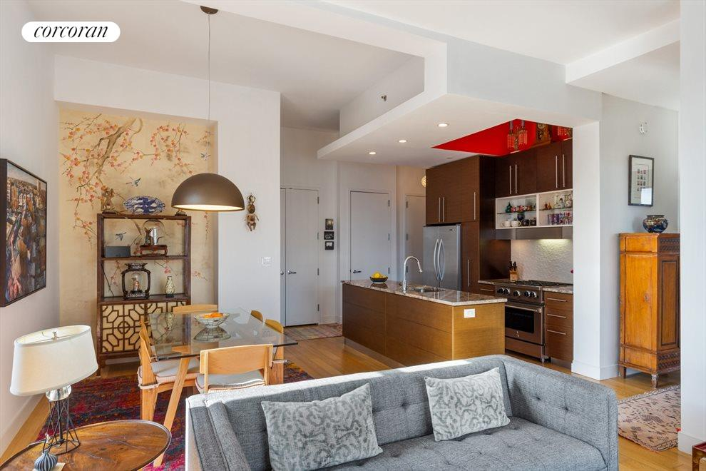 New York City Real Estate | View 96 Rockwell Place, #11C | Kitchen / Living Room