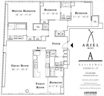New York City Real Estate | View 245 West 99th Street, #28A | Floorplan