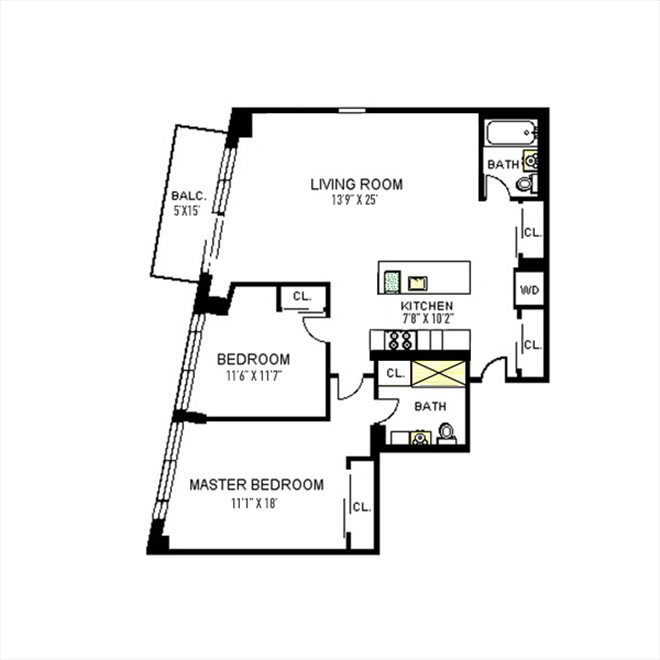 New York City Real Estate | View 96 Rockwell Place, #11C | Floorplan