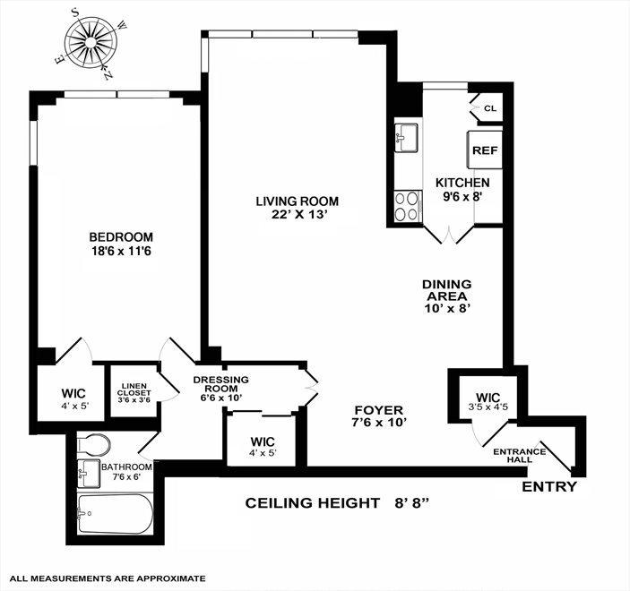 New York City Real Estate | View Fifth Avenue | Floorplan