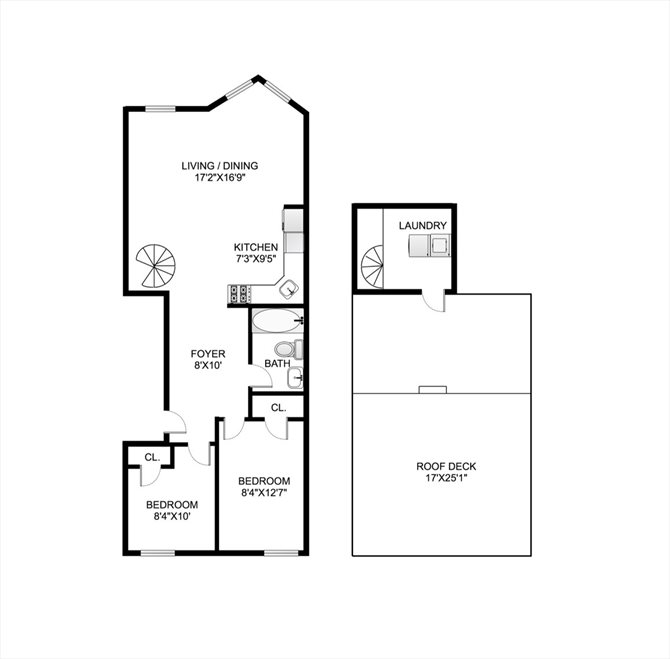 New York City Real Estate | View 474 Waverly Avenue, #3 | Floorplan