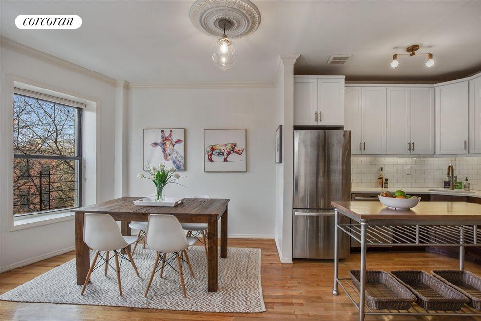 New York City Real Estate | View 474 Waverly Avenue, #3 | Spacious Dining Area