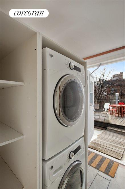 New York City Real Estate | View 474 Waverly Avenue, #3 | Laundry Area