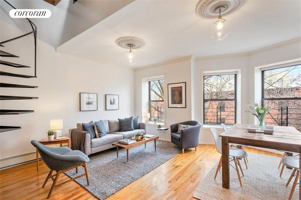 New York City Real Estate | View 474 Waverly Avenue, #3 | 2 Beds, 1 Bath