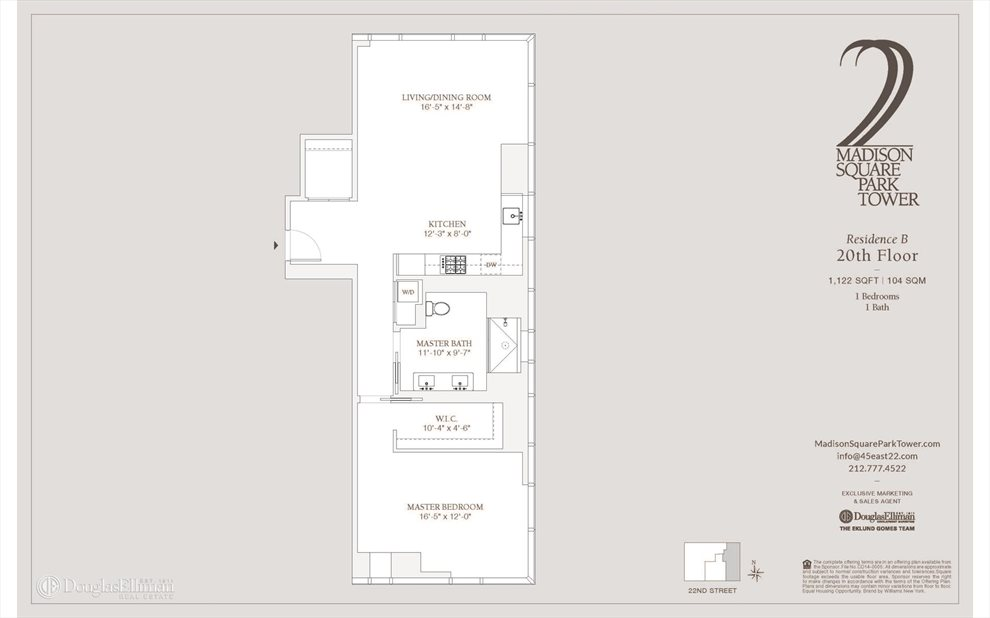 New York City Real Estate | View East 22nd Street | Floorplan