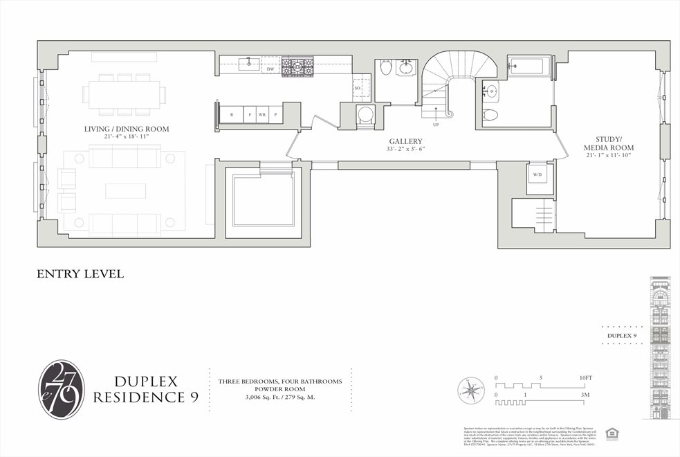 New York City Real Estate | View 27 East 79th Street, #9/10 | Floorplan 3