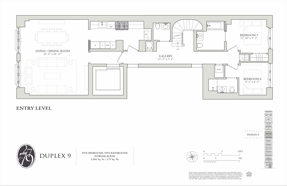 New York City Real Estate | View 27 East 79th Street, #9/10 | Floorplan 1