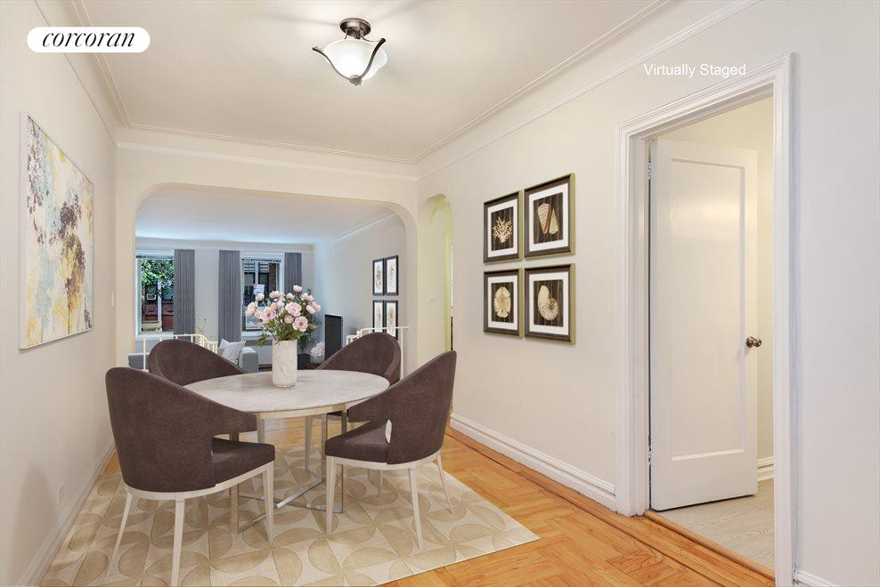 Virtually Staged Dining Foyer