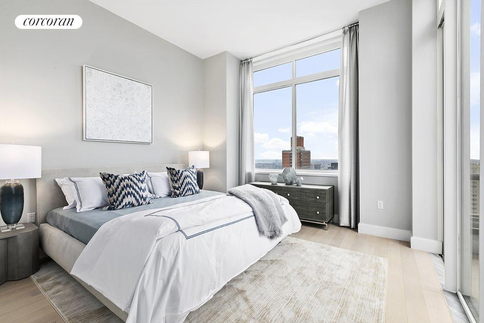 Master bedroom with East River views