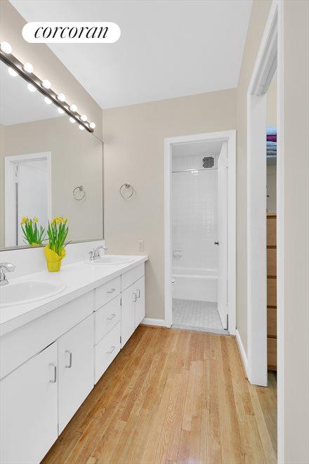 En-suite Master Bath has a double vanity