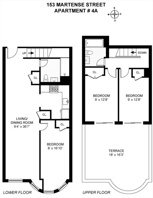 New York City Real Estate | View 153 Martense Street, #4A | Floorplan