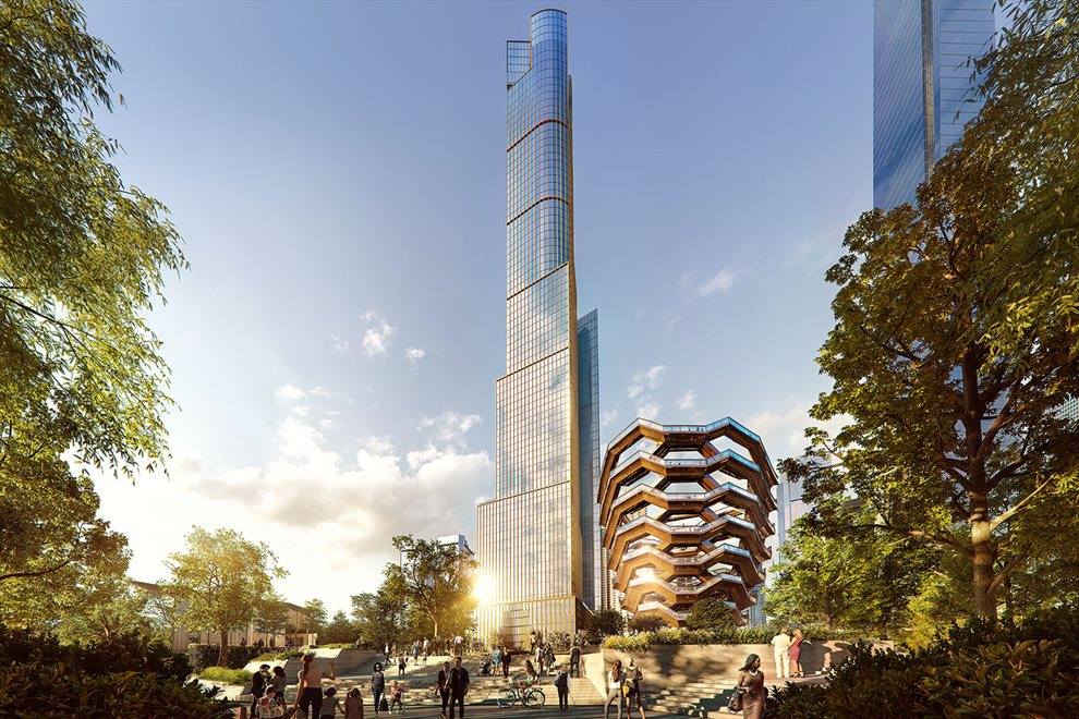 New York City Real Estate | View 35 HUDSON YARDS, #8603 | 35 Hudson Yards park front setting
