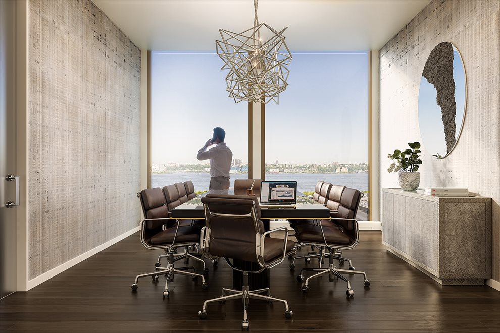 New York City Real Estate | View 35 HUDSON YARDS, #8603 | Board Room