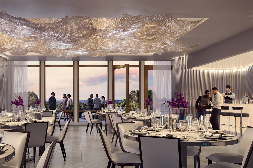 New York City Real Estate | View 35 HUDSON YARDS, #8603 | Grand Dining Room