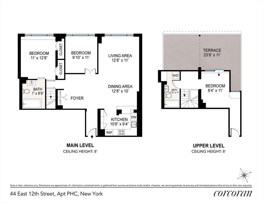 New York City Real Estate | View 44 East 12th Street, #PHC | Floorplan 2