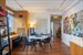 60 East 55th Street, 28A, Dining area in living room with built-in desk