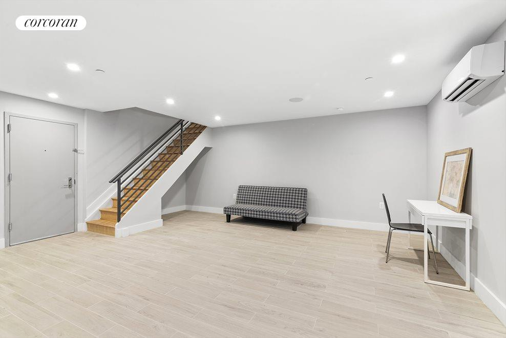 New York City Real Estate | View 139 Grove Street, #1B | Massive finished cellar!
