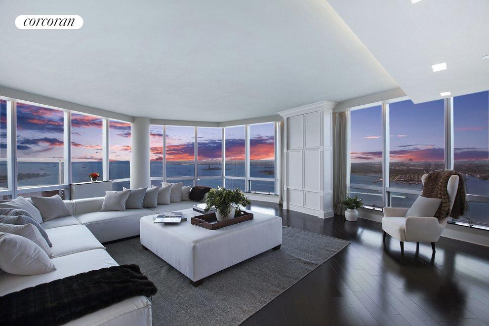 GRAND LIVING ROOM WITH AMAZING SUNSETS