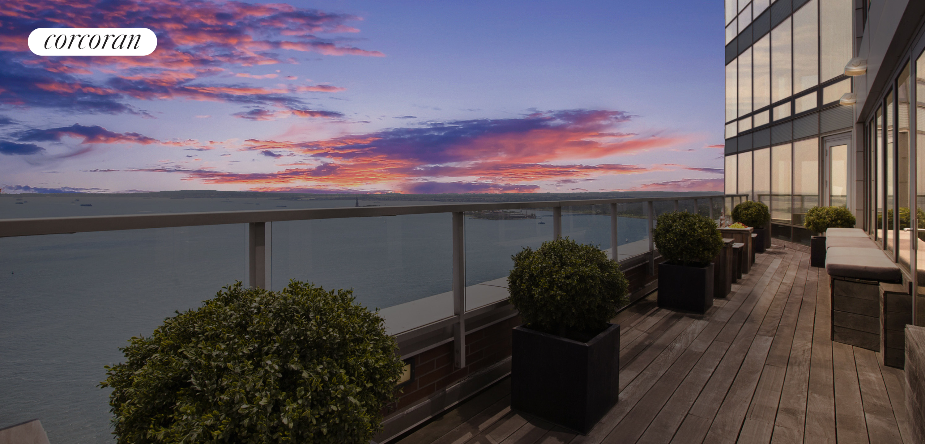 10 West Street, PH2C, GRAND LIVING ROOM WITH DIRECT RIVER VIEWS